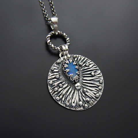 Petal,Of,The,Sleep,|,Silver,Australian,Opal,Pendant,Necklace,Australian Opal Pendant, Silver Necklace, artsy shop online