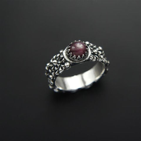 The,Kiss,Of,Elf,|,Silver,Ruby,Ring,Ruby Ring, silver bohemian ring, artsy jewellery shop