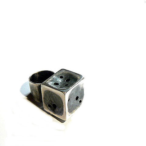 Cube,|,Industrial,Sterling,Silver,Ring,Sterling Silver Ring, cube ring, artisan jewellery shop