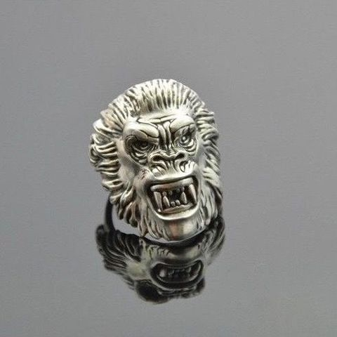 Gorilla,|,SILVER,SIGNET,RING,Silver Signet Ring, gorilla ring, biker jewellery, designer jewellery, fine jewellery, fashion jewellery, unique jewellery, unusual jewellery, alternative jewellery, contemporary jewellery, modern jewellery