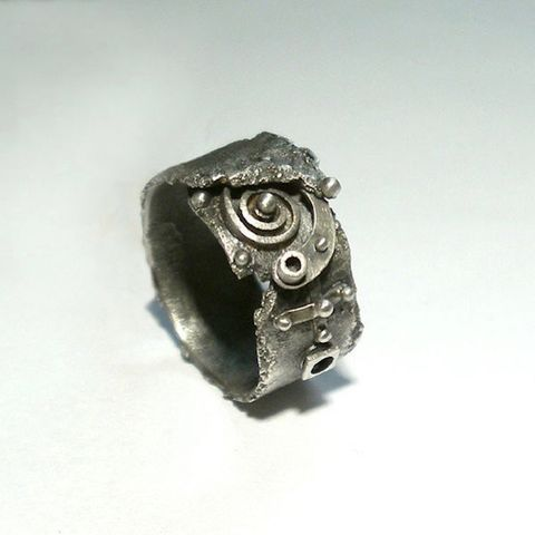 FX,Planetary,Rim,|,STEAMPUNK,SILVER,BAND,RING,Steampunk Silver Band Ring, silver ring, bespoke handmade jewellery