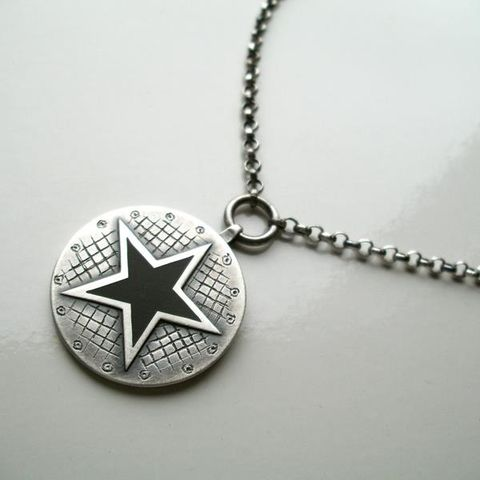 BLACK,STAR,SILVER,Necklace,black star Silver Pendant, black star pendant, unique jewellery online, David Bowie jewellery
