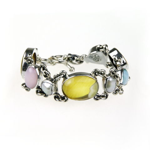 Silver,Narrow,Bracelet,With,Amber,,Gemstones,Silver Narrow Bracelet, amber jewellery shop London, gemstones bracelet