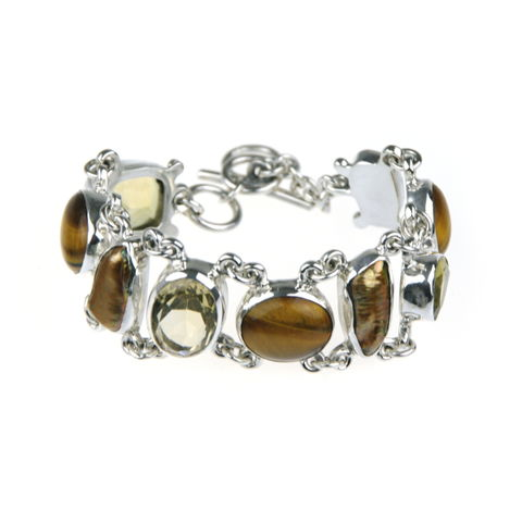 Silver,Bracelet,With,Citrine,,Tiger's,Eye,&,Golden,Pearls,Silver Citrine Bracelet, tiger's eye jewellery shop, golden pearl bracelet