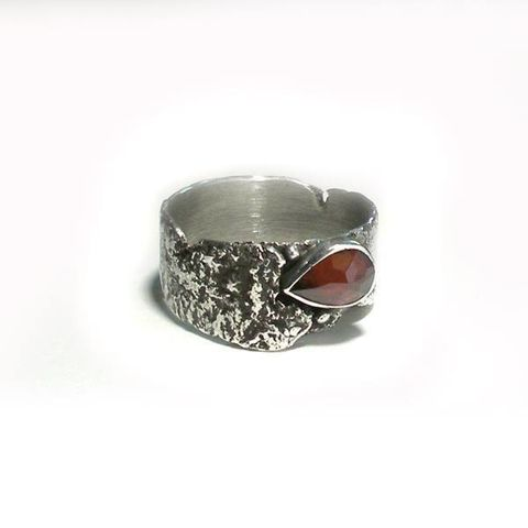 GARNET,Drop,SILVER,RING,Garnet Ring, silver drop ring, unique jeweller shop london
