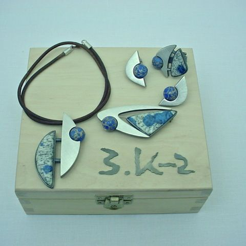 K-2 | SILVER & JASPER JEWELLERY SET - product images  of