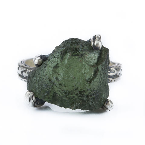 Moldavite,Silver,Ring,Moldavite Silver Ring, organic jewellery London, gift idea for her