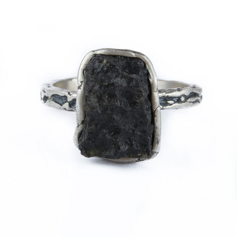 Small,Moldavite,&,Silver,Ring,Small Moldavite Ring, silver jewellery shop London, organic jewellery gift