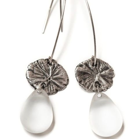 The,Ascetic,|,Silver,Drop,Earrings,With,Opaque,Glass,Silver Drop Earrings, opaque glass jewellery, gift idea