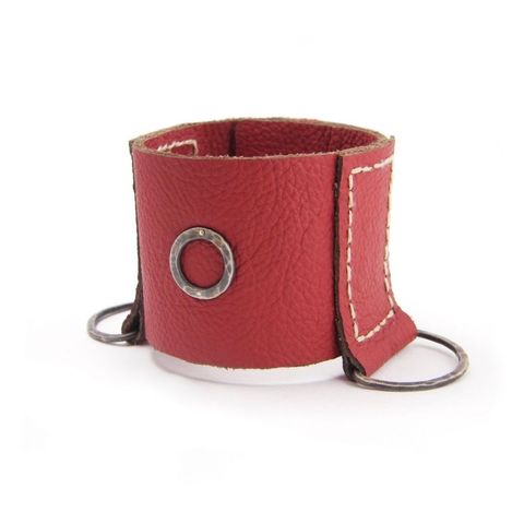 Red,LEATHER,SILVER,BRACELET,Red Leather Bracelet, silver bracelet, contemporary jewellery shop London