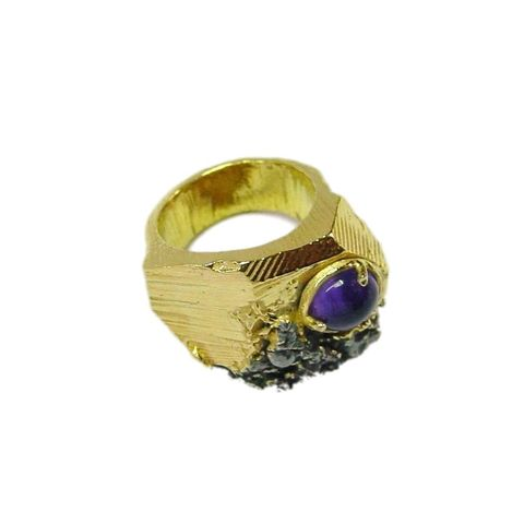 IM,XXX,|,Gold,Plated,Amethyst,Ring,Gold Plated Amethyst Ring, silver jewellery, amethyst ring London
