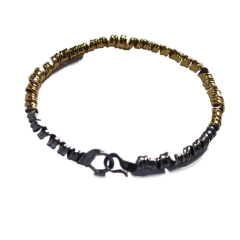 IM,XXII,|,SILVER,And,Gold,Plated,Bracelet,Silver And Gold Plated Bracelet, Silver Jewellery shop London