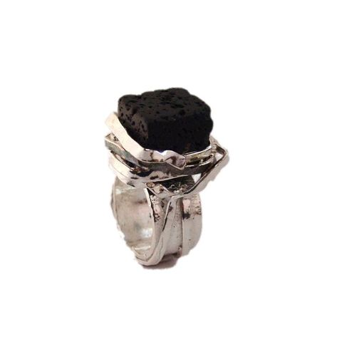 Sterling,Silver,Ring,With,Lava,Sterling Silver Ring With Lava, Silver Jewellery shop London