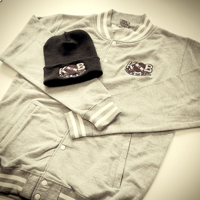 Grey King of the Beats Varsity Jacket & Hat Combo  - product images