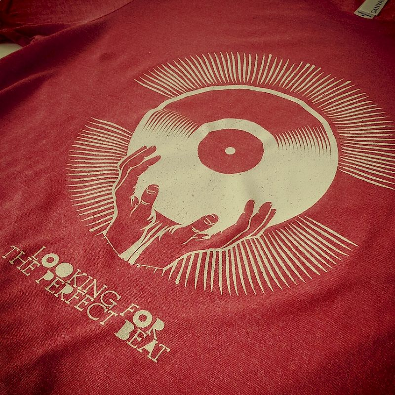 Looking For the Perfect Beat Hands Red Tee - product images  of