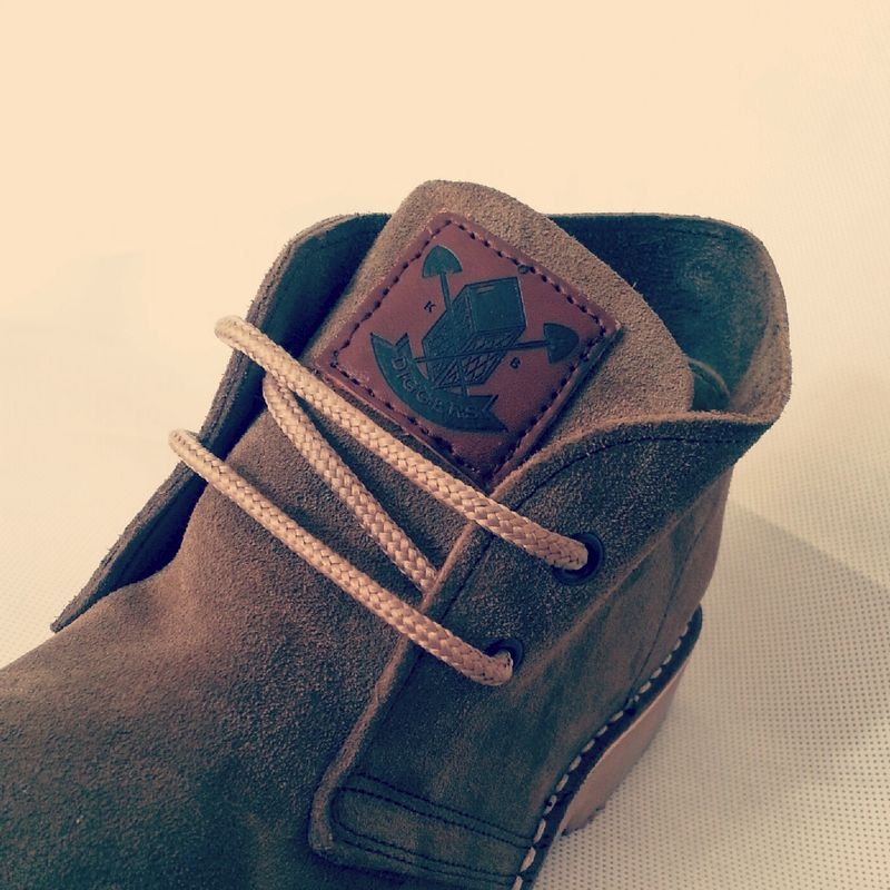 DIGGERS KHAKI SUEDE BOOTS - product images  of