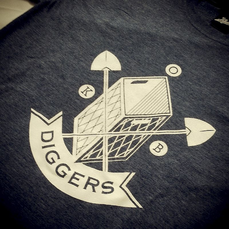 Diggers Branded Tee Blue - product images  of