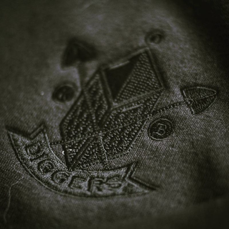 Diggers Hoodie Black on Black - product images  of