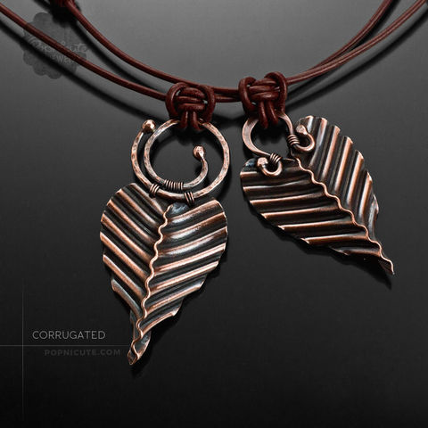 CORRUGATED,-,More,Styles,casual jewelry, daily, folded copper pendant, foldforming necklace, foldform, popnicute jewelry, corrugated