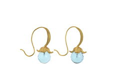 Flower Blue Topaz Gold - Earrings - product images 5 of 5
