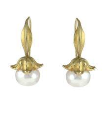 Flower Fresh Water Pearls Gold - Earrings - product images 1 of 4