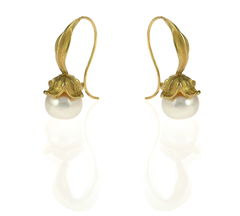 Flower Fresh Water Pearls Gold - Earrings - product images 2 of 4