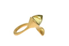H20,Lemon,Quartz,Gold,-,Ring,Militza-Ortiz, jewellery, jewelry, accessories, yellow, Handmade Jewellery, fluid, Gold, Lemon Quartz, Sterling Silver, Ring, Stacking Rings,  Militza Ortiz, contemporary jewellery