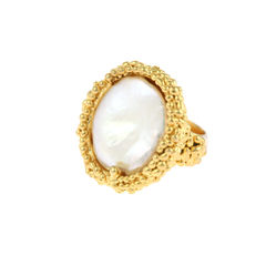 Organica Ring Baroque Fresh Water Pearl - Gold - product images 5 of 5