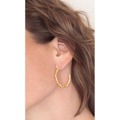 Organica Hoop Earrings - Gold - product images 3 of 3