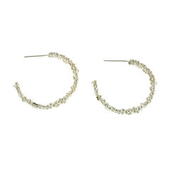 Organica Hoop Earrings - Sterling Silver - product images 2 of 3