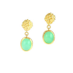 Organica,Chrysoprase,Earrings,Jewellery, organica, Militza-Ortzi, organic, Women's, earrings, chrysoprase, silver, gold vermeil, green