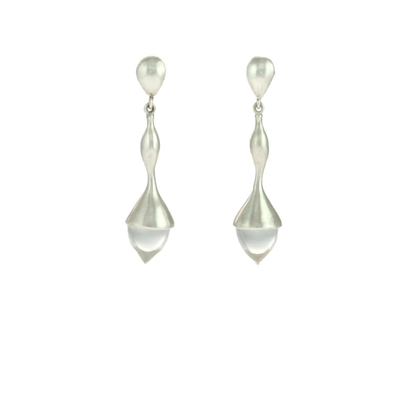 H20 Rock Crystal on Sterling Silver - Earrings - product image