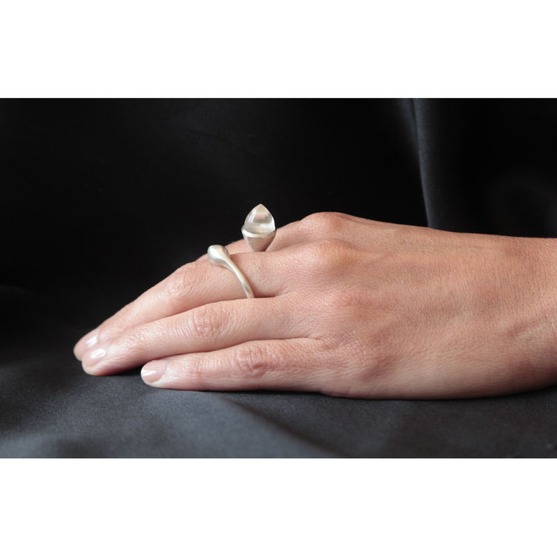 H20 Rock Cystal  Sterling Silver - Ring - product image