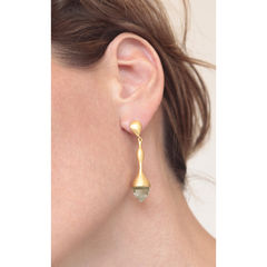 H20 Mint Quartz Gold - Earrings - product images 2 of 3