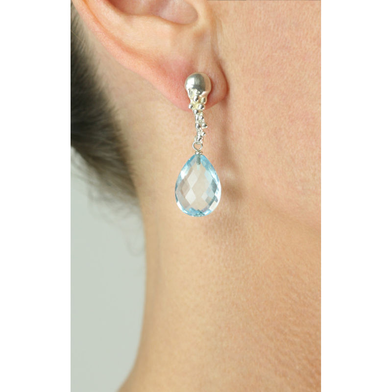 Organica Blue Topaz Earrings - product image
