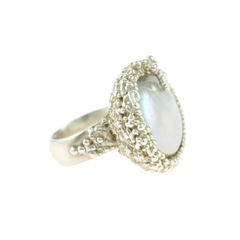 Organica Ring Baroque Fresh Water Pearl - product images 1 of 5