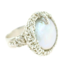 Organica Ring Baroque Fresh Water Pearl - product images 2 of 5