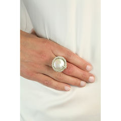 Organica Ring Baroque Fresh Water Pearl - product images 3 of 5