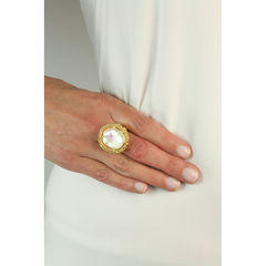 Organica Ring Baroque Fresh Water Pearl - Gold - product images 4 of 5