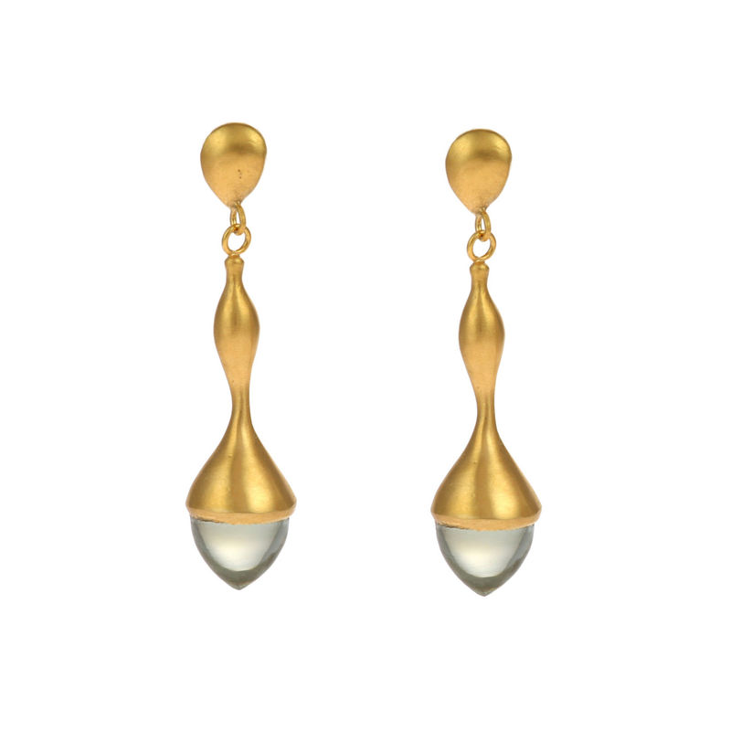 H20 Mint Quartz Gold - Earrings - product image