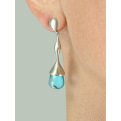 H20 Blue Topaz on Sterling Silver - Earrings - product images 2 of 4