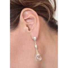 H20 Faceted Rock Crystal on Sterling Silver - Earrings - product images 3 of 3