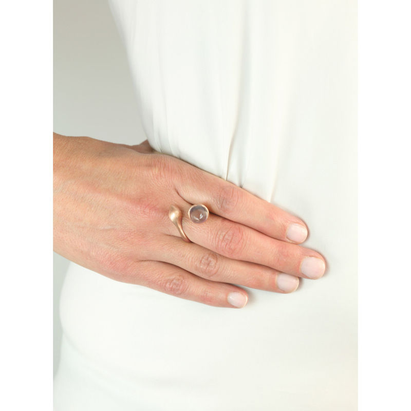 H20 Rose Quartz on Rose Gold - Ring - product image