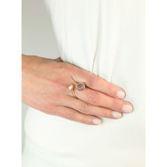 H20 Rose Quartz on Rose Gold - Ring - product images 3 of 5