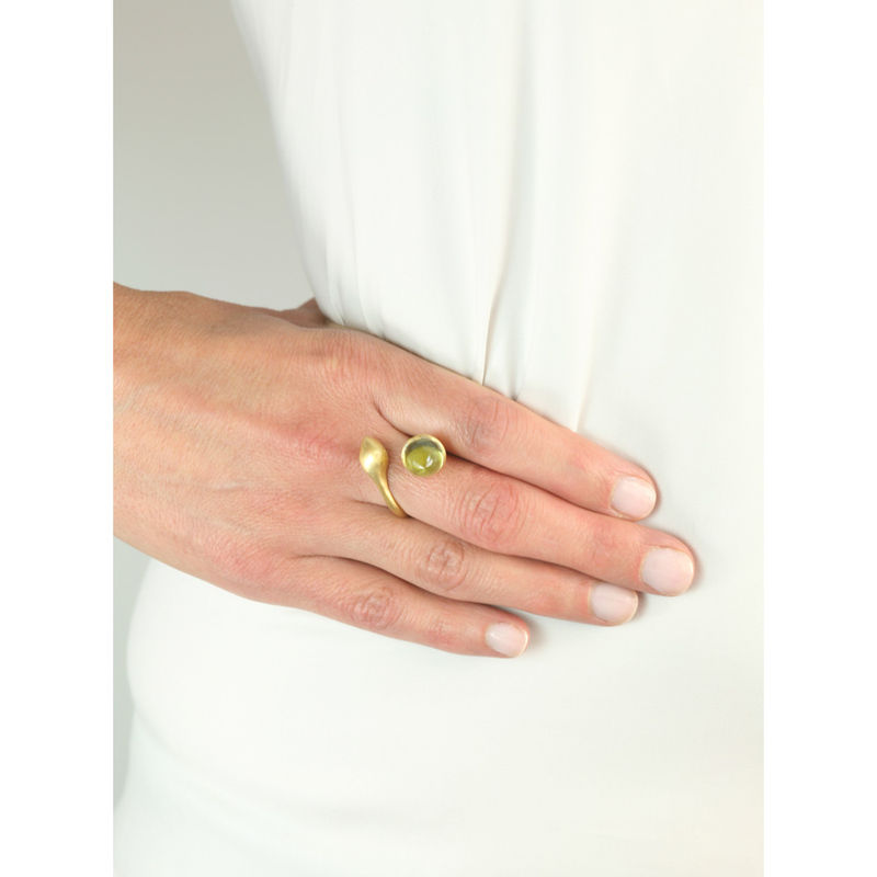 H20 Rock Cystal 18ct. Gold Vermeil - Ring - product image