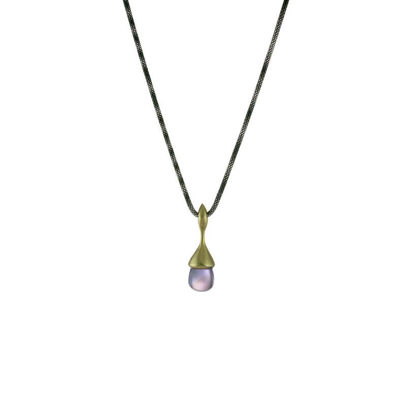 H20 Pendant Necklace Amethysts on 18ct Gold Vermeil - product image