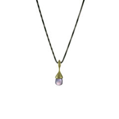 H20 Pendant Necklace Amethysts on 18ct Gold Vermeil - product images 3 of 3