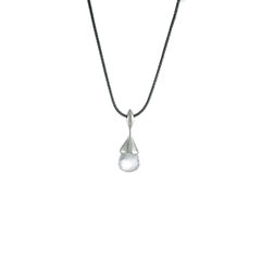 H20 Pendant Necklace Rock Crystal on Sterling Silver - product images 1 of 5