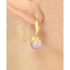 Flower Amethysts Gold - Earrings - product images 3 of 3