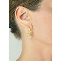 Flower Rose Quartz Gold - Earrings - product images 4 of 5